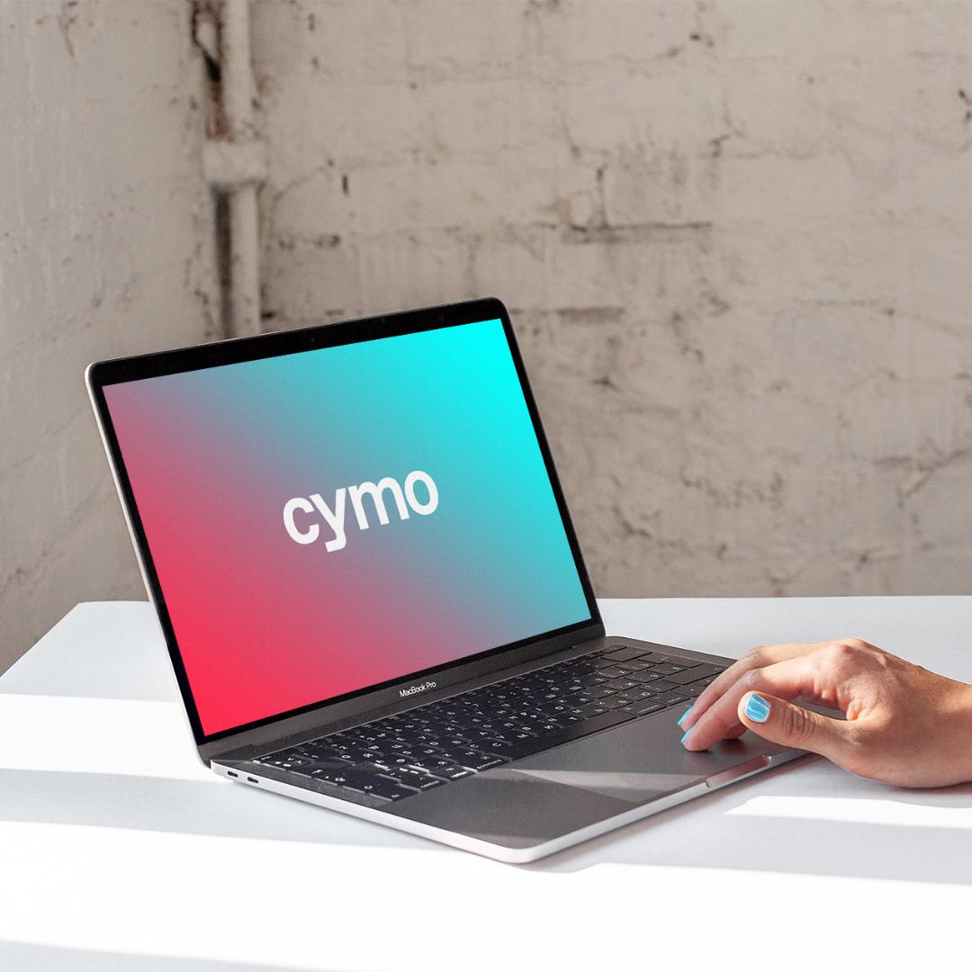 Cymo logo presentation, logo design, branding